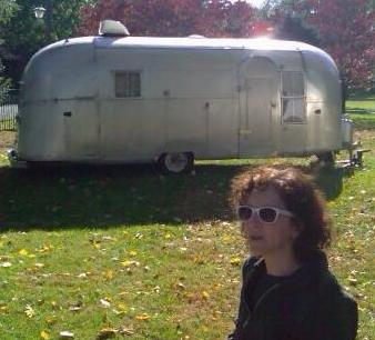 Rebecca Turner with Airstream
